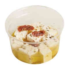 Marinated Greek Feta Cheese In Olive Oil Sun-dried Tomato Garlic & Herbs