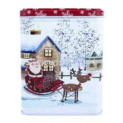 3 Kotak Hadiah Natal dengan Gambar Perayaan Natal Bersalju