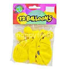 Party Planet Smiley Party Balloons (12 Pieces)
