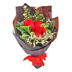 Imported Red Rose Bouquet