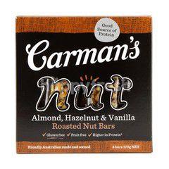 Carman's Nut Bar Almond, Hazelnut, And Vanilla (5 Bars)
