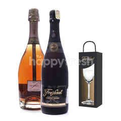 Freixenet Cardon Negro + Elyssia Pinot Noir Get Riedel Flute Glass Free
