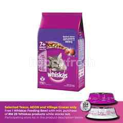 Whiskas Cat Dry Food Senior 7+ Mackerel 1.1KG Cat Food