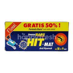 Hit-Mat Anti Mosquito Floral 49mv (18 + 9 Mat)