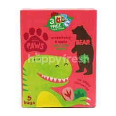 Dino Paws Strawberry And Apple Pure Fruits Shapes (5 Pieces)