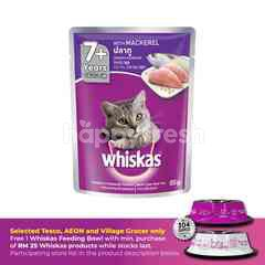 Whiskas Pouch Cat Wet Food Adult 7+ Mackerel 85G Cat Food