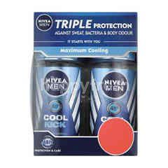 Nivea Men Cool Kick Roll On Deodorant (2 Bottles)