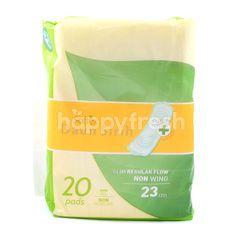 Softex Betel Leaves Slim Regular Flow Natural Hygiene 23cm Non Perfume (20) Sanitary Pad