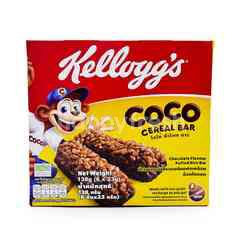 Kellogg's Coco Cereal Bar Chocolate Flavour Puffed Rice Bar (6 Pieces)