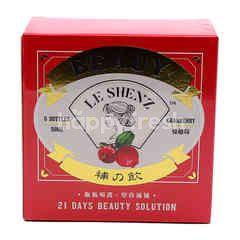 Le Shenz Beauty Cranberry Flavour Supplement Drink (6 Bottles)