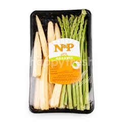 Natural & Premium Food Organic Asparagus & Baby Corn