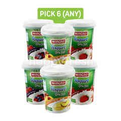 Marigold Mixed Peach Mango Fruit Flavour Yogurt,0% Fat Strawberry Yogurt and Yogurt 0% Fat - Mixed Berries (Pick Any 6)