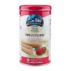 WHITE CASTLE Luxury Cream Wafers Strawberry