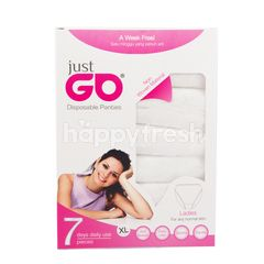 Just Go Women Disposable Panties Size XL (7 Pieces)
