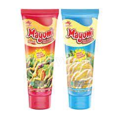 Mayumi Original and Spicy Mayonnaise (Tube)