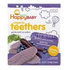 Happybaby Teething Wafer - Blueberry/Purple Carrot (48g)
