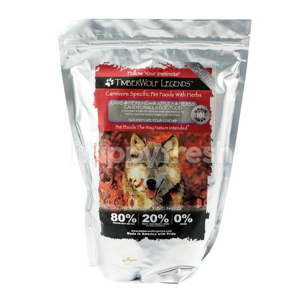 TimberWolf Legends Lamb & Herring with Lamb & Herbs Canid Formula Dog Food