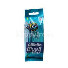 Gillette Blue II Plus Razor For Men (5 Pieces)