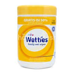 Mitu Wetties Antiseptic Lemon Wet Wipes (90 sheets)