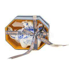 Blue Elephant Mini Tea Pot In Silk Box
