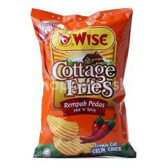 Wise Party Pack Cottage Fries Hot 'N' Spicy 160g Potato Chips