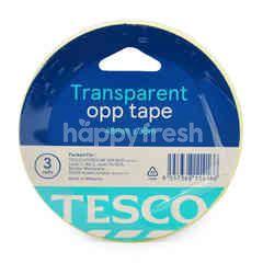 Tesco Transparent Opp Tape 48mm X 36m (3 Roll)