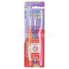 Colgate Zig Zag Medium Tooth Brush (3 Pieces)