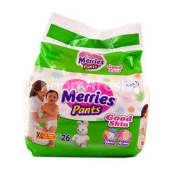 Merries Good Skin Baby Pants Diapers Size XL (26 pieces)
