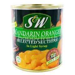 S&W Premium Mandarin Oranges Selected Sections In Light Syrup