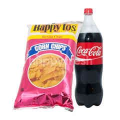 Coca-Cola COCA COLA Paket Olahraga 1,5L dan Happy Tos Tortilla 160g