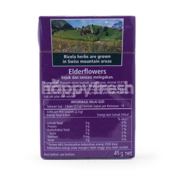 Ricola Swiss Herb Elderflowers Candy