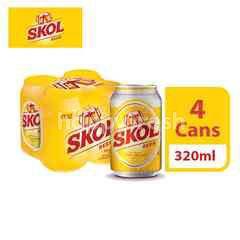 Skol Lager Beer Can (320ml x 4)