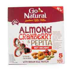 Go Natural Almond Cranberry And Pepita Nut Delight Bar