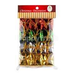 ของตกแต่งเทศกาลปีใหม่ กล่องของขวัญประดับต้นคริสต์มาส 12 ชิ้น