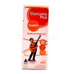 Curcuma Plus Sharpy Food Supplements with Orange Flavor