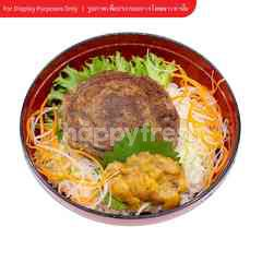 Roll Steak Rice Bowl with Sea Urchin