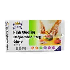 KBM High Quality Disposable Poly Glove Size L