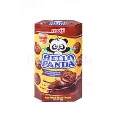 Meiji Hello Panda Double Chocolate Biscuits