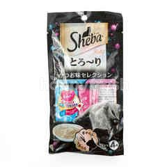 Sheba Melty Cat Treats Katsuo & Salmon Flavor