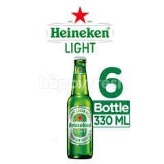 Heineken Light Bir Lager Botol 6 Packs