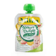 Milna Nature Delight Banana, Strawberry Apple Fruit Puree