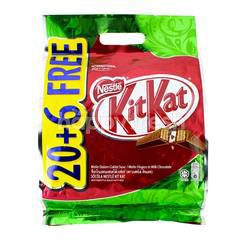 Nestle KitKat 20 + 6 Chocolate Wafer