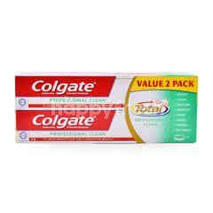 Colgate Professional Clean Antibacteria & Fluoride Gel Toothpaste (2 Packs)