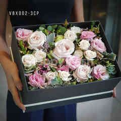 Heartis Display flower box - pink roses