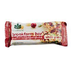 BrookFarm Bar Baked With Macadamias & Cranberries Whole Grains
