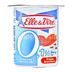 Elle & Vire Yogurt Rasa Stroberi Lemak 0.1%