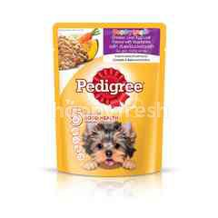 Pedigree Pouch Dog Food Puppy Chicken Liver & Egg Loaf with Vegetable 80g Dog Wet Food