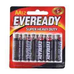 Eveready AA Super Heavy Duty Battery (12 Pieces)