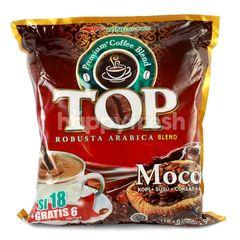TOP Coffee Kopi Arabika dan Robusta Bubuk Kopi Moka (24 sachet)