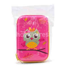 Umoe Pink Owl Eva Pencil Case